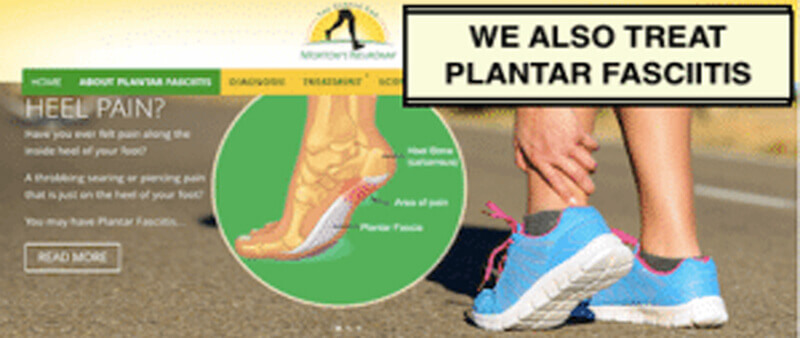 We treat Plantar Fasciitis and we have a website dedicated to Plantar Fasciitis