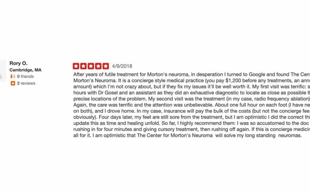 Rory's Yelp Review